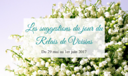 Relais de Voisins : les suggestions de la semaine du 29 mai au 1er juin 2017