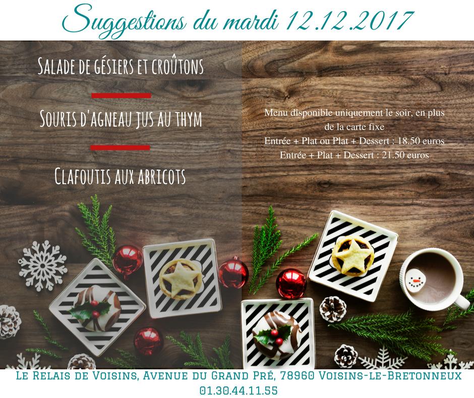 Suggestions du Relais de Voisins : mardi 12 décembre 2017