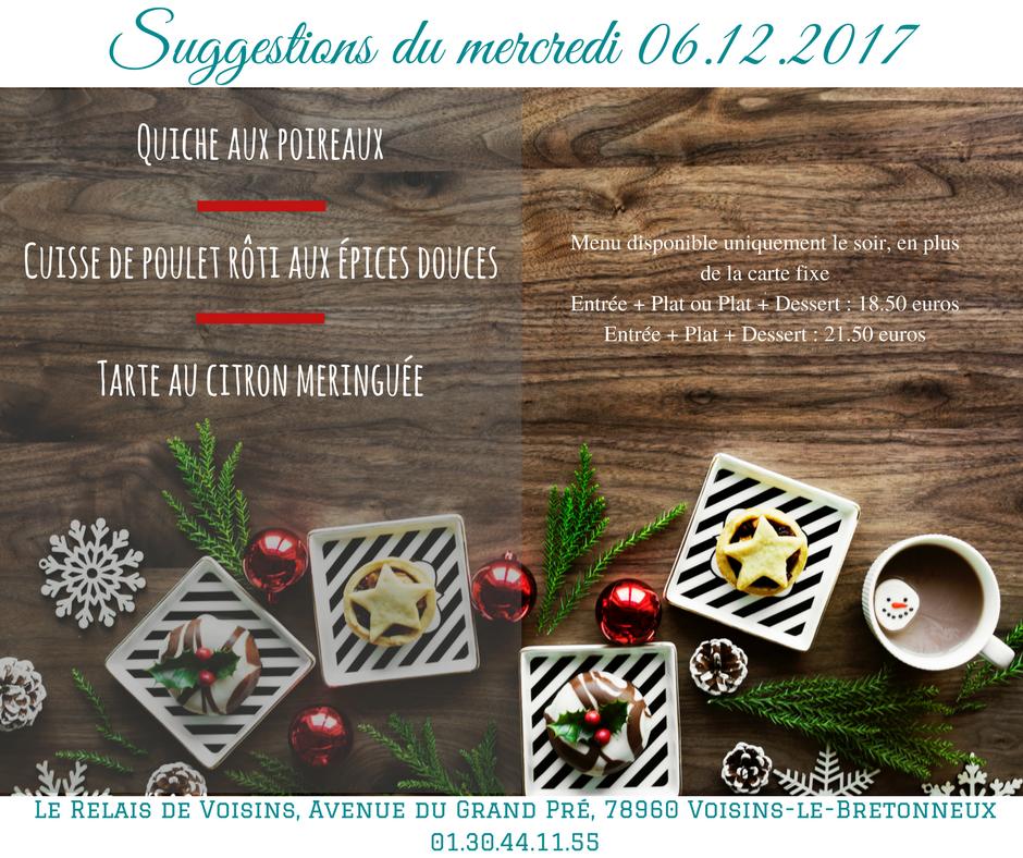 Suggestions du Relais de Voisins : mercredi 6 décembre 2017