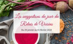 29 janvier au 01 février : les suggestions du Relais de Voisins