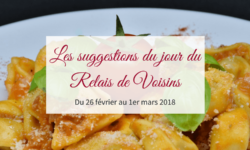 28 février au 1er mars : les suggestions du Relais de Voisins
