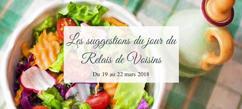 19 au 22 mars : les suggestions du Relais de Voisins