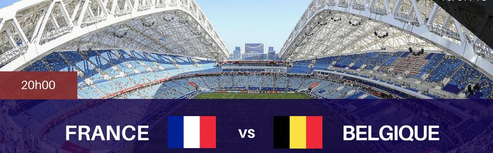Diffusion du match France vs Belgique (1/2 finale)