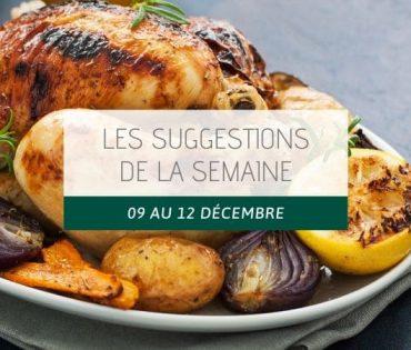 Les suggestions du 09 au 12 décembre
